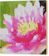 Stained Glass Waterlily Wood Print