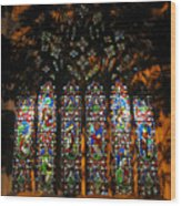 Stained Glass Window Christ Church Cathedral 1 Wood Print