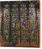 Stained Glass Window Christ Church Cathedral 2 Wood Print
