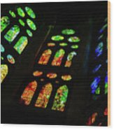 Stained Glass Windows -  Wood Print