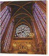 Windows Of Saint Chapelle Wood Print