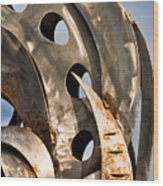 Stainless Abstract II Wood Print