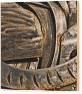 Stainless Abstract IIi Wood Print