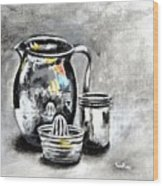 Stainless Steel Still Life Painting Wood Print