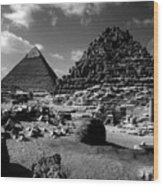 Stair Stepped Pyramids Wood Print