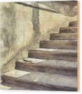 Staircase At Pitti Palace Florence Pencil Wood Print
