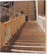 Staircase At Scala Della Ragione - Verona Italy Wood Print