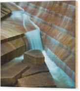 Staircase Fountain Wood Print