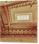 Staircase In Brown Wood Print