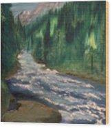 Staircase Rapids Wood Print