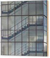 Stairs Behind Glass Wood Print