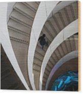 Stairs  Bruininks Hall University Of Minnesota Campus Wood Print