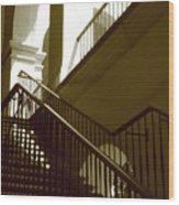 Stairs To 2nd Floor Wood Print