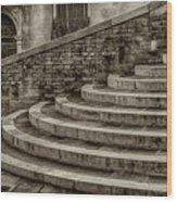 Stairs To Canal Bridge Venice_dsc1637_03012017  Wood Print