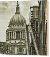 Stairs To St Pauls Wood Print