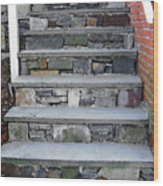 Stairs To The Plague House Wood Print