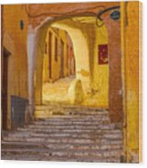 Stairway Inside Beni Isguen Wood Print