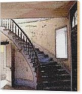 Stairway -  Meade Hotel - Bannack Mt Wood Print