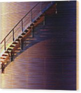 Stairway Abstraction Wood Print