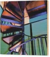 Stairway Bright Wood Print