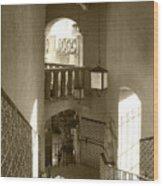 Stairway - In Sepia Wood Print