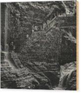 Stairway In The Glen Wood Print