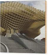 Stairway Leading Up To Metropol Parasol In The Plaza Of The Inca Wood Print