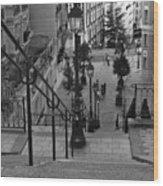 Stairway On Montmartre Wood Print