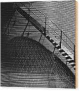 Stairway Shadow Wood Print