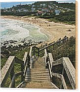 Stairway To Beach Wood Print