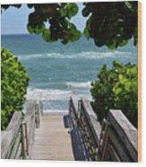 Stairway To Haven Wood Print