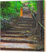 Stairway To Heaven Impasto Wood Print