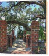 Stairway To Winyah Bay Wood Print