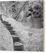 Stairways To The Kiva Wood Print