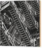 Stairwell Hell Wood Print