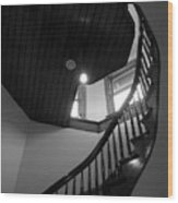 Stairwell To The Studio Crow's Nest Wood Print