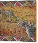 Stalking Cheetahs Wood Print