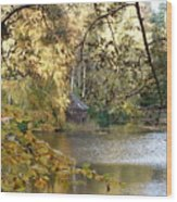 Stalking The Boathouse Wood Print