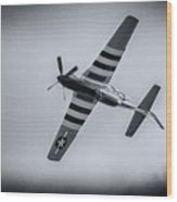 Stallion 51 - P-51d Mustang - Crazy Horse 2 Wood Print