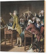 Stamp Act: Patrick Henry Wood Print