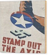 Stamp Out The Axis - Folded Wood Print