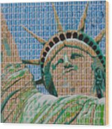 Stampue Of Liberty Wood Print