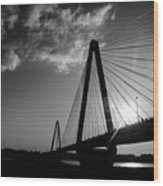 Stan Musial Bridge St Louis Mo Black And White_dsc4591_16_65 Wood Print