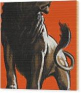 Stand Firm Lion - Ww2 Wood Print