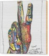 Stand Wood Print by Robert Wolverton Jr