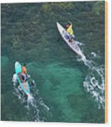 Stand Up Paddlers II Wood Print