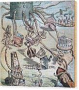 Standard Oil Cartoon Wood Print