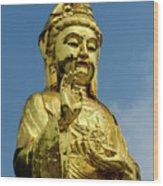 Standing Budda Wood Print
