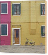 Standing By For A Quick Get Away In Burano Italy Wood Print