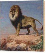 Standing Lion Wood Print